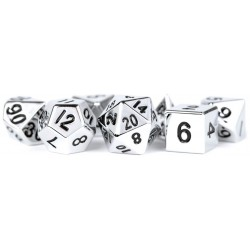 MDG Silver Metal Dice Set