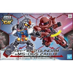 SDGCS K00 RX-78-2 Gundam & MS-06S...